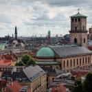 Vyhlídka z věže Rundetaarn v Kodani