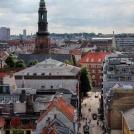 Pohled na barevnou Kodaň z výšky