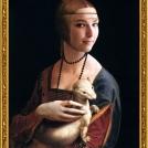 """Fotomontáž obrazu <b>Dáma s hranostajem</b> od Leonarda da Vinci, více o fotomontáži naleznete v <a href=""""http://malebno.cz/originalni-fotomontaze-tvare-studentu-v-historickych-obrazech/"""">tomto příspěvku</a>. <br> Photomontage of <b>Lady with an Ermine</b> by Leonardo da Vinci, more in <a href=""""http://malebno.cz/en/originalni-fotomontaze-tvare-studentu-v-historickych-obrazech/"""">this post</a>."""