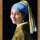 "Fotomontáž obrazu <b>Dívka s perlou</b> od Jana Vermeera, více o fotomontáži naleznete v <a href=""http://malebno.cz/originalni-fotomontaze-tvare-studentu-v-historickych-obrazech/"">tomto příspěvku</a>. <br> Photomontage of <b>Girl with a Pearl Earring</b> by Jan Vermeer, more in <a href=""http://malebno.cz/en/originalni-fotomontaze-tvare-studentu-v-historickych-obrazech/"">this post</a>."