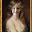 Fotomontáž portrétu od Alberta Lynche. <br> Photomontage of a painting by Albert Lynch.