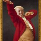 Fotomontáž <b>Autoportrétu</b> od Josepha Ducreuxe. <br> Photomontage of <b>Self-portrait</b> by Joseph Ducreux.