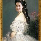"""Fotomontáž obrazu <b>Sissi</b> od Franze Xavera Winterhaltera, více o fotomontáži naleznete v <a href=""""http://malebno.cz/originalni-fotomontaze-tvare-studentu-v-historickych-obrazech/"""">tomto příspěvku</a>. <br> Photomontage of <b> Empress Elisabeth of Austria</b> by Franz Xaver Winterhalter, more in <a href=""""http://malebno.cz/en/originalni-fotomontaze-tvare-studentu-v-historickych-obrazech/"""">this post</a>."""