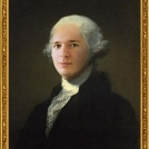 Fotomontáž portrétu <b>George Washingtona</b> od Gilberta Stuarta. <br> Photomontage of the Portrait of <b>George Washington</b> by Gilbert Stuart.