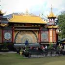 Malé pódium v zábavním parku Tivoli v Dánsku