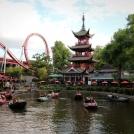 Zábavní park Tivoli - jezírko s lodičkami