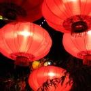 Lampióny v čínské části zábavního parku Tivoli