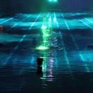 Vodní světelná shw v zábavním parku Tivoli v Kodani