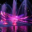 Vodní světelná show v zábavním parku Tivoli v Kodani