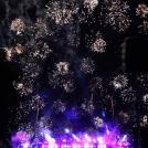 Ohňostroj v dánském zábavním parku Tivoli