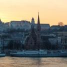 Západ slunce v Budapešti
