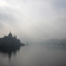 Dunaj v mlze