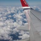 Bílí mráčkoví beránci z letadla