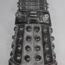 """Dálek ze skvělého britského seriálu Doctor WHO - více o mém kreslení dáleka si můžete přečíst <a href=""""http://malebno.cz/kresba_daleka/"""">zde</a>"""