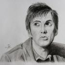 """Portrét Doktora Who v podání úžasného Davida Tennanta - více o kresbě <a href=""""http://malebno.cz/kresba-tuzkou-podle-fotografie-portret-10-doktora-who-davida-tennanta/"""">tomto příspěvku</a>"""