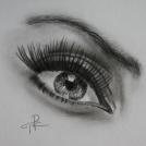 """Studie oka - více o mé kresbě očí najdete v <a href=""""http://malebno.cz/oci/"""">tomto článku</a>"""