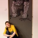 """Dveřní malba trola Navážky ze Zeměplochy. Více o této malbě si přečtěte v <a href=""""http://malebno.cz/ja-dverni-trol-malba-na-dvere/"""">tomto příspěvku</a>"""