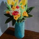 """Narozeninová kytice - článek o malbě této kytice najdete <a href=""""http://malebno.cz/malba-kytice-s-tulipany-akrylovymi-barvami/"""">zde</a>"""