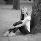 Černobílá portrétní fotografie