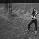 Černobílá fotografie portrétu