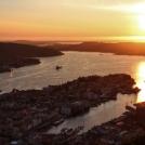 Západ slunce nad Bergenem