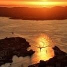 Západ slunce z vyhlídky nad Bergenem