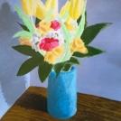 Pokračování v malbě květin, dolaďování detailů