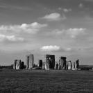 Stonehenge s mráčky