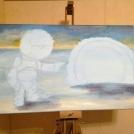Malba akrylem - průbeh