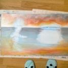 Průběh malby akrylem