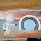 Nedokončená malba akrylem