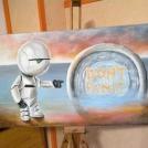 Malba na malířské stojanu