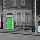 Zelené Irsko - barevné dveře v centru Dublinu