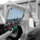 Zelené Irsko - focení průvodu mobilem