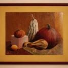 Zelenina akrylem - zapaspartovaná malba
