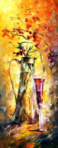 AFREMOV, Leonid. Leonid Afremov - World Renown Artist [online]. [cit. 29.1.2016]. Dostupný na WWW: https://afremov.com/FLOWERS-AND-WINE-Palette-knife-Oil-Painting-on-Canvas-by-Leonid-Afremov-Size-16-x40.html