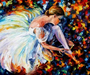 AFREMOV, Leonid. Leonid Afremov - World Renown Artist [online]. [cit. 29.1.2016]. Dostupný na WWW: https://afremov.com/BALLERINA-Palette-knife-Oil-Painting-on-Canvas-by-Leonid-Afremov-Size-36-x30.html
