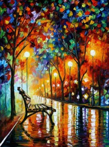 AFREMOV, Leonid. Leonid Afremov - World Renown Artist [online]. [cit. 29.1.2016]. Dostupný na WWW: https://afremov.com/LONELINESS-OF-AUTUMN-PALETTE-KNIFE-Oil-Painting-On-Canvas-By-Leonid-Afremov-Size-30-X40.html