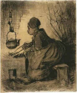 Van Gogh - portrét ženy u ohně