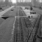 Fotografie kolejí v Birkenau