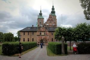 renesanční zámek Rosenborg, centrum Dánska