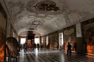 interiér dánského zámku Rosenborg