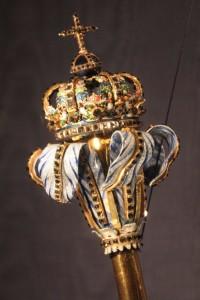 Dánské královské žezlo - výstava korunovačních klenotů na zámku Rosenborg v Kodani