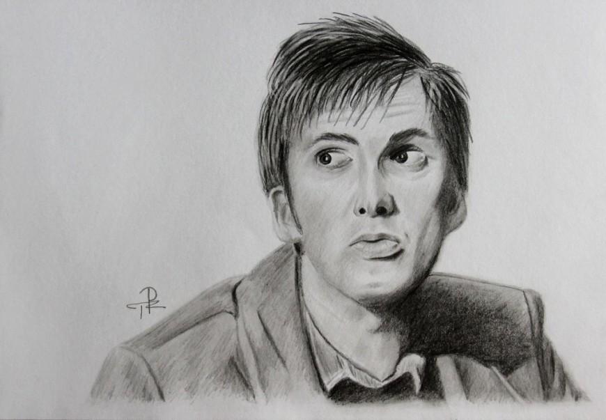 David Tennant - kresba podle fotografie