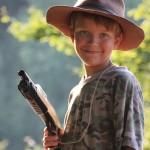 Malý kovboj s pistolí