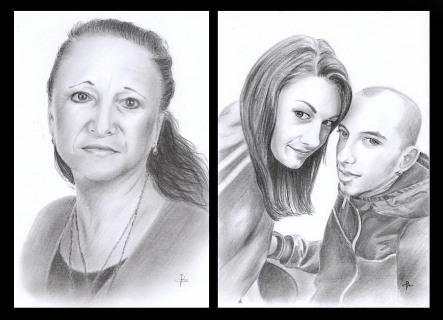 Portréty na zakázku tužkou Tereza Preislerová