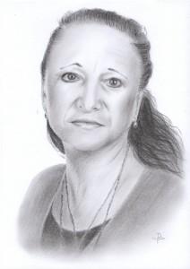 Portrét podle fotografie kreslený Terezou Preislerovou