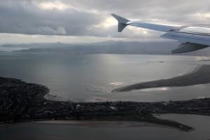 Pobřeží Irska z letadla