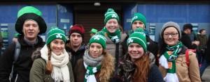 Svatý Patrik Irsko - Zelené čepice a šály