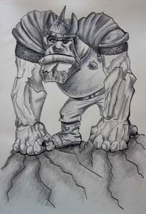 Trol Navážka - kresba ze Zeměplochy, Tereza Preislerová